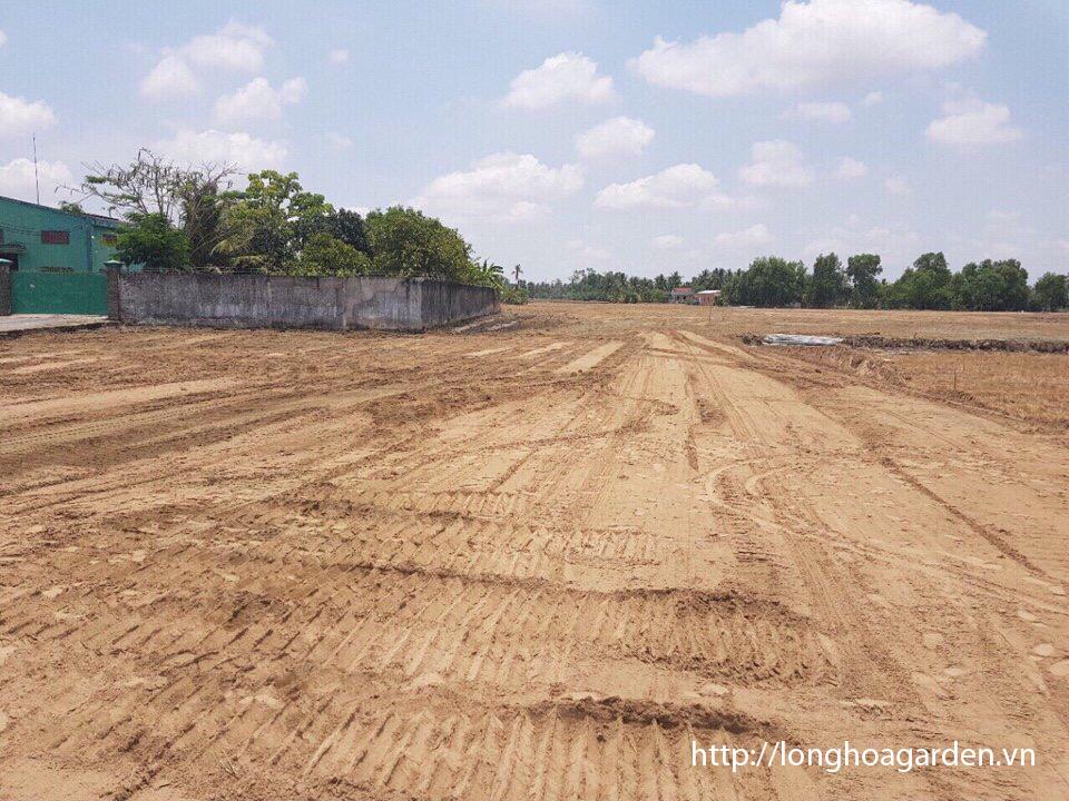 Hạ tầng dự án long hòa garden đang được hoàn thiện