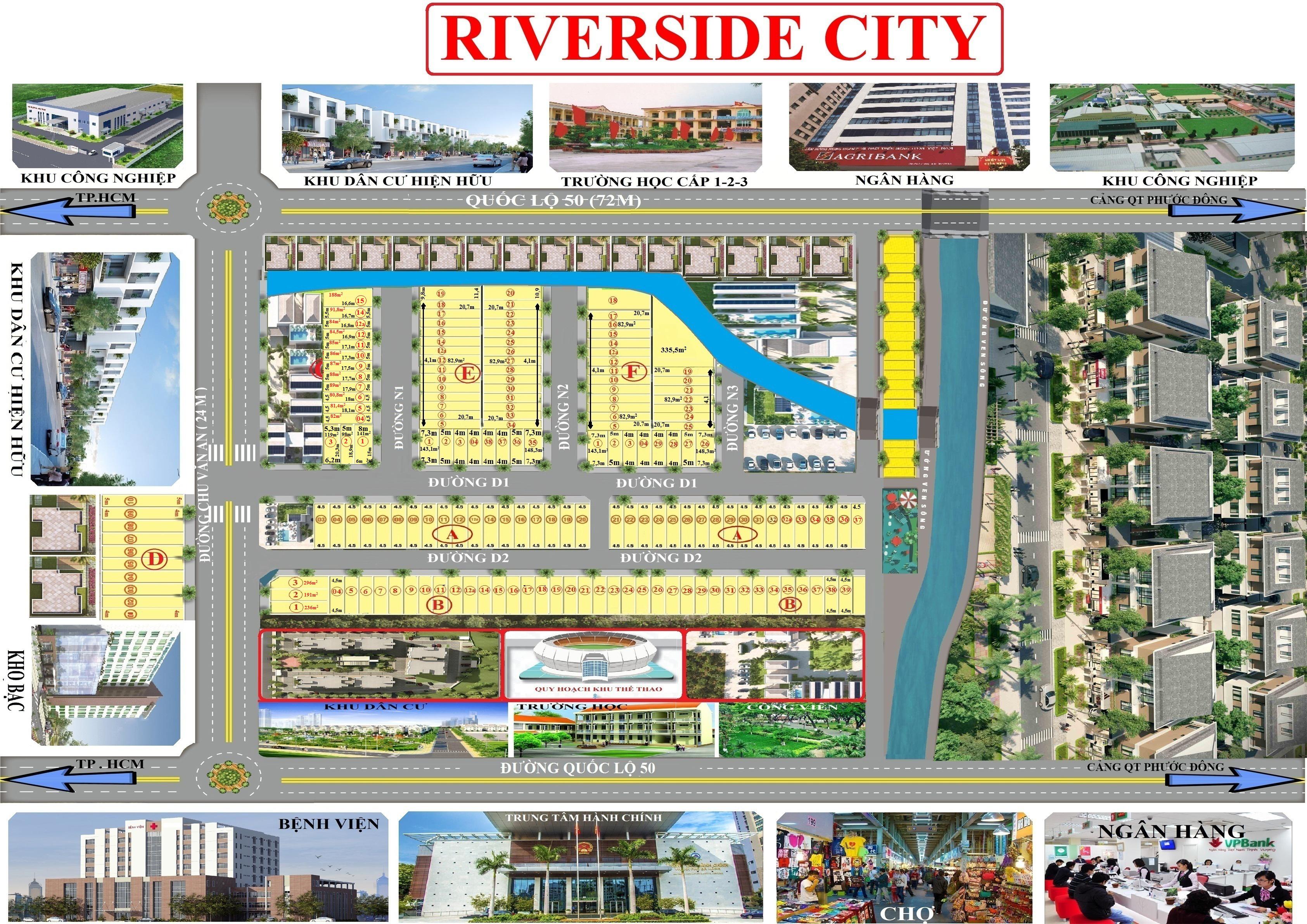 Sơ đồ mặt bằng dự án Riverside City