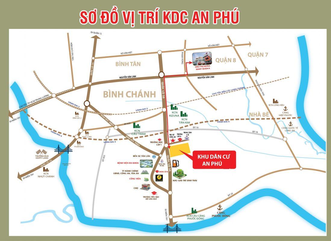Sơ đồ vị trí khu dân cư An Phú